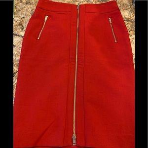 Ann Taylor Red Pencil Skirt